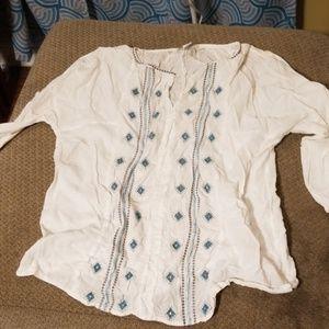 White peasant blouse